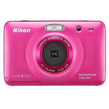 Nikon Coolpix S30 10.1MP Digital Camera - Pink