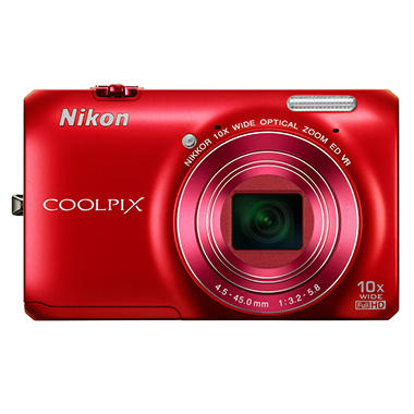 Nikon Coolpix S6300 16MP Digital Camera - Red