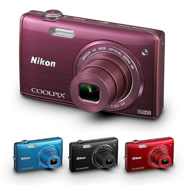 Nikon S5200 16MP Digital Camera with 6x Optical Zoom