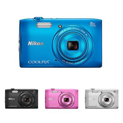 Nikon Coolpix S3600 20.1MP Digital Camera with 8x Optical Zoom - Various Colors