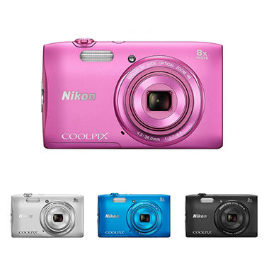 Nikon Coolpix S3600 20.1MP Digital Camera with 8x Optical Zoom - Various Colors