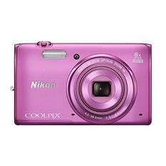 Nikon Coolpix S5300 16MP CMOS Digital Camera with 8x Optical Zoom - Various Colors