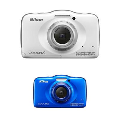 Nikon Coolpix S32 13.2MP CMOS HD Digital Camera with 3x Optical Zoom - Various Colors