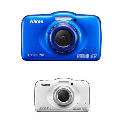 Nikon Coolpix S32 13.2MP CMOS HD Digital Camera with 3x Optical Zoom - Various Colors