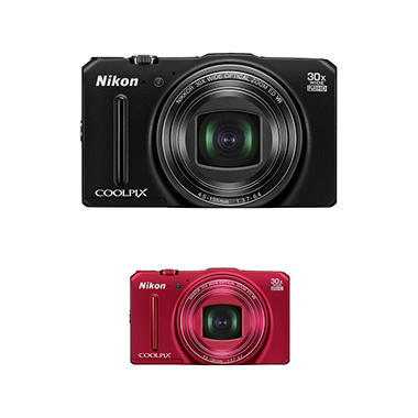 Nikon Coolpix S9700 16MP CMOS Digital Camera with 30x Optical Zoom - Various Colors