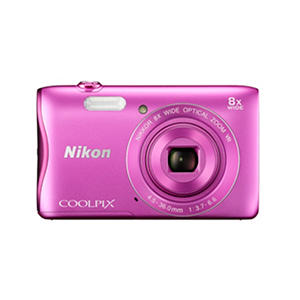 Nikon Coolpix S3700 20.1MP Digital Camera, with 8x Optical Zoom and HD 720p video - Various Colors