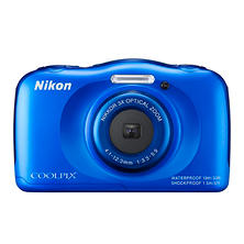 Nikon Coolpix S33 13.2MP CMOS HD Digital Waterproof Camera with 3x Optical Zoom - Various Colors