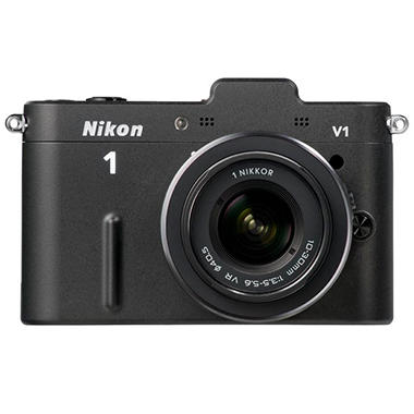 Nikon V1 10.1MP Mirrorless Digital Camera with 10-30mm Lens - Black