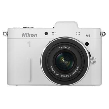Nikon V1 10.1MP Mirrorless Digital Camera with 10-30mm Lens - White