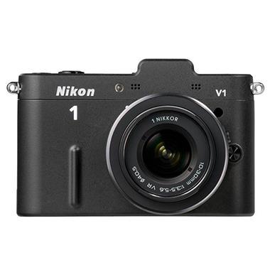 Nikon V1 10.1MP Mirrorless Digital Camera with 10-30mm and 30-110mm Lenses - Black
