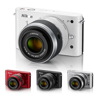 Nikon J1 10.1MP Mirrorless Digital Camera with 10-30mm Lens - Various Colors