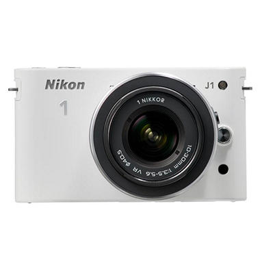 *$499.00 after $250 Instant Savings* Nikon J1 10.1MP Mirrorless Digital Camera with 10-30mm and 30-110mm Lenses - White