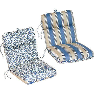 Replacement Patio Chair Cushion - Verti Cadet w/ Hamilton Stripe Cadet