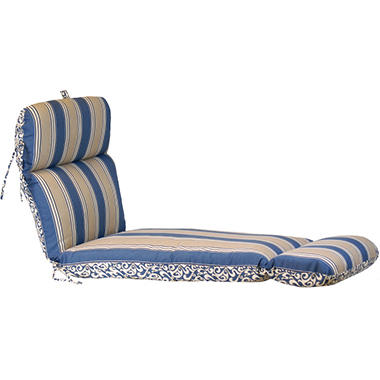 Replacement Patio Chaise Cushion - Verti Cadet w/ Hamilton Stripe Cadet