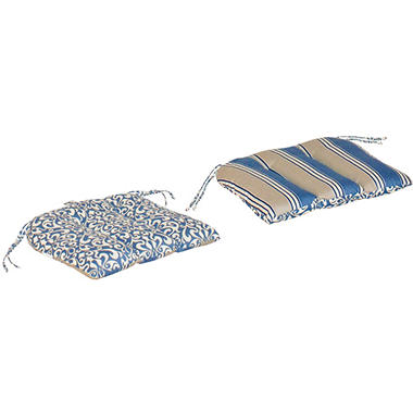 Replacement Patio Seat Cushion - Verti Cadet with Hamilton Stripe Cadet