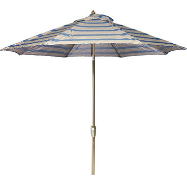 9' Aluminumn Market Umbrella - Hamilton Cadet Stripe