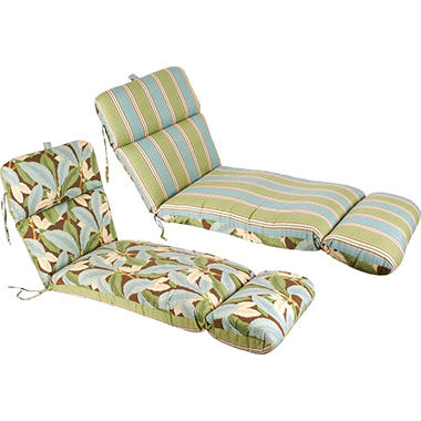 Replacement Patio Chaise Cushion - Patogoni Latte/Mainland Surf Stripe