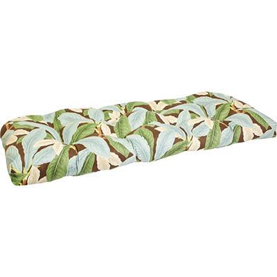 Replacement Wicker Settee Cushion - Patogoni Latte/Mainland Surf Stripe