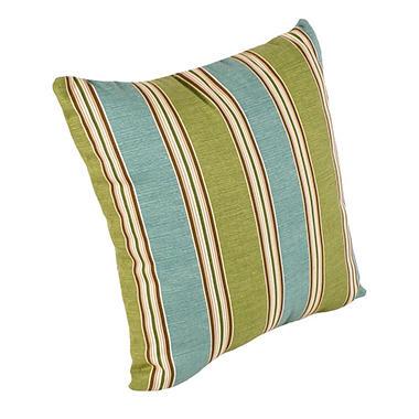 "16"" Square Toss Pillow - Mainland Surf Stripe"