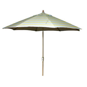 9' Aluminum Market Umbrella - Mainland Surf Stripe