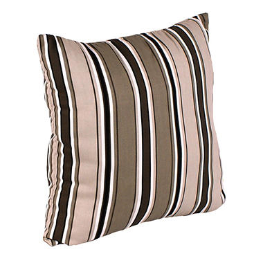 "18"" Square Toss Pillow - Armona Jet Stripe"