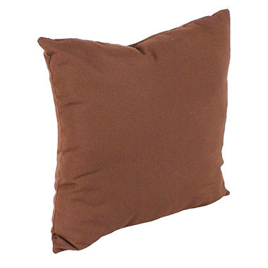 "18"" Square Toss Pillow- Bay Brown"