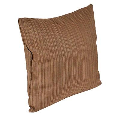"18"" Square Toss Pillow - Dupione Walnut"