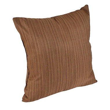 "16"" Square Toss Pillow - Dupione Walnut"