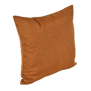 """18"""" Square Toss Pillow - Canvas Teak"""