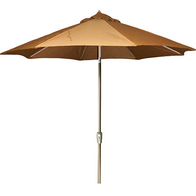 9' Aluminum Market Umbrella - Canvas Teak