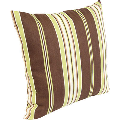 Accent Toss Pillow - Arcadia Stripe Fudge