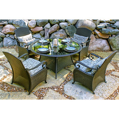 Wicker Dining Set - Taupe