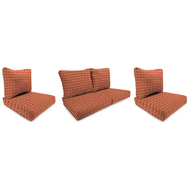 Wicker Chair and Loveseat Cushion - Felton Chili