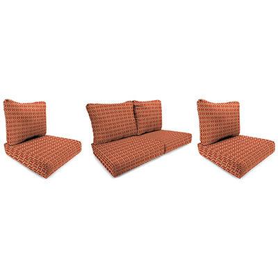 Wicker Chair and Loveseat Cushion - Felton Chili