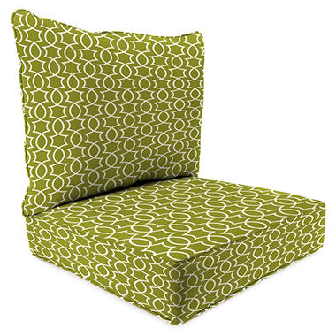 Deep seating chair cushion w box seat welt ties many colors even sunbrella ebay - Deep seat patio cushions replacements ...