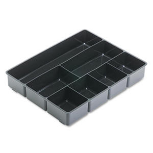 Rubbermaid - Extra Deep Desk Drawer Director Tray, Plastic - Black
