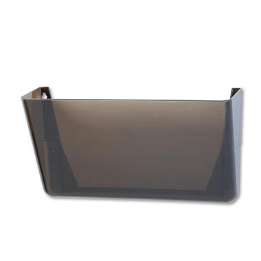 Rubbermaid - Stak-A-File Single Wall Pocket, Letter - Smoke