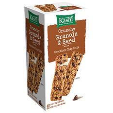 Kashi Chocolate Chip Chia Crunchy Granola and Seed Bars (2 bar pouch, 20 ct.)