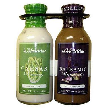 La Madeleine Dual Salad Dressing - 2/12 oz.