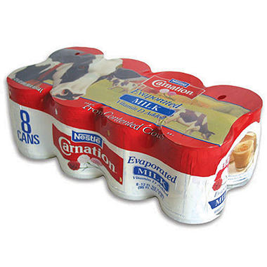 Carnation� Evaporated Milk - 8/12 oz. cans