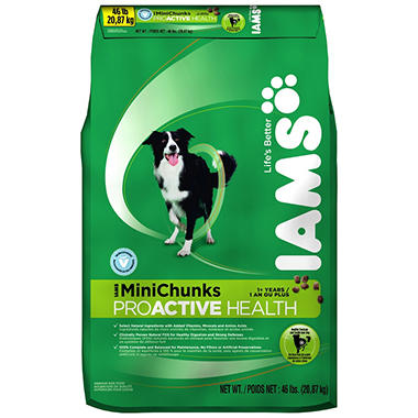 Iams ProActive Health Adult MiniChunks Dog Food - 46 lbs.