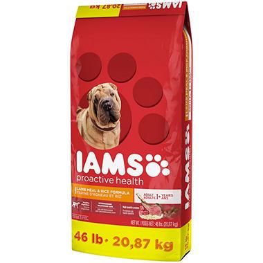 Iams ProActive Health Dog Food, Lamb Meal & Rice (46 lbs