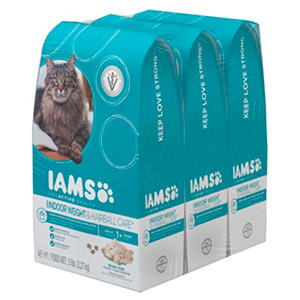 Iams Indoor Weight & Hairball Care Dry Cat Food (5 lbs., 3 pk.)