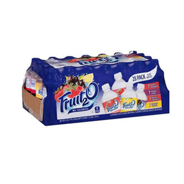 Fruit2O Flavored Purified Water Beverage Variety Pack - 16 oz. bottles - 28 pk.