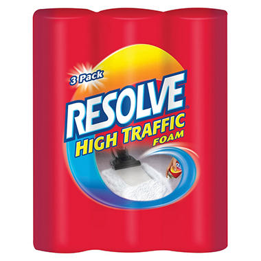 Resolve High Traffic Foaming Carpet Cleaner, 22 oz. - 3/Pack
