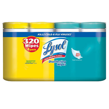 Lysol Disinfecting Wipes - 4 pk