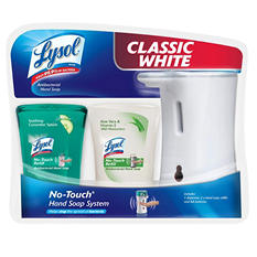 Lysol No-Touch Hand Soap System, White Dispenser