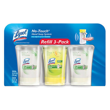 Lysol No-Touch Hand Soap Refills, 8.5 oz. - 3 pk.