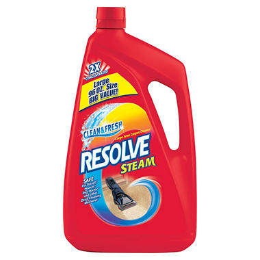 Resolve Steam Large Area Carpet Cleaner - 2x Concentrated - Clean Scent - 96 oz.