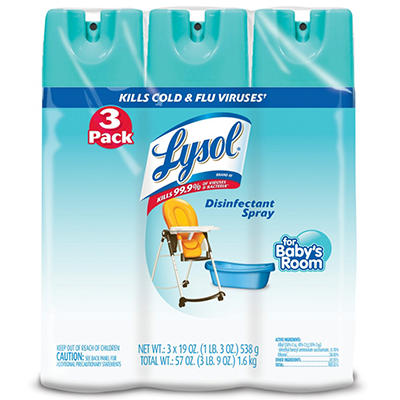 Lysol Disinfectant Spray for Baby's Room (19 oz., 3 pk.)